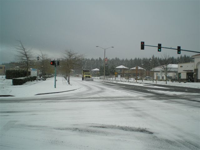 Intersection in the Snow